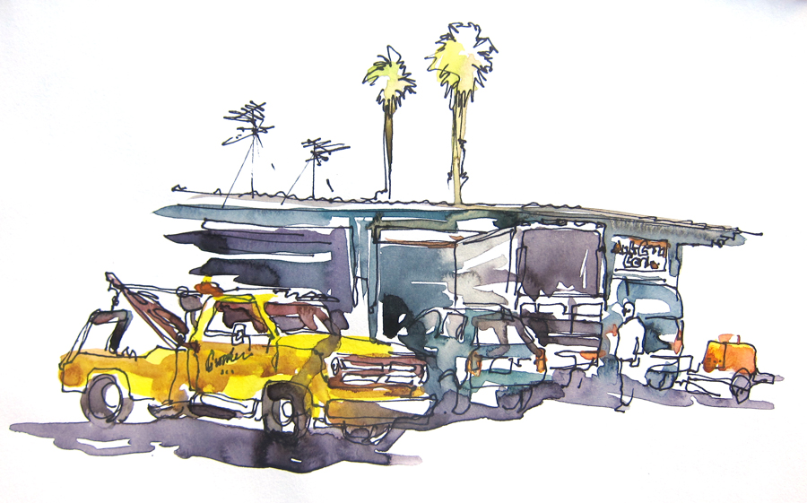 Parking Lot Drawings Quick Parking Lot Sketch