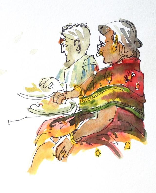 Image result for grandpa grand ma sketches in tamilnadu