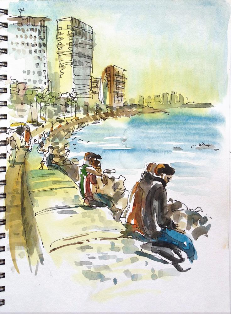 how to reach marine drive mumbai