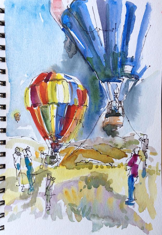 Hot Air Balloons and Vintage Cars