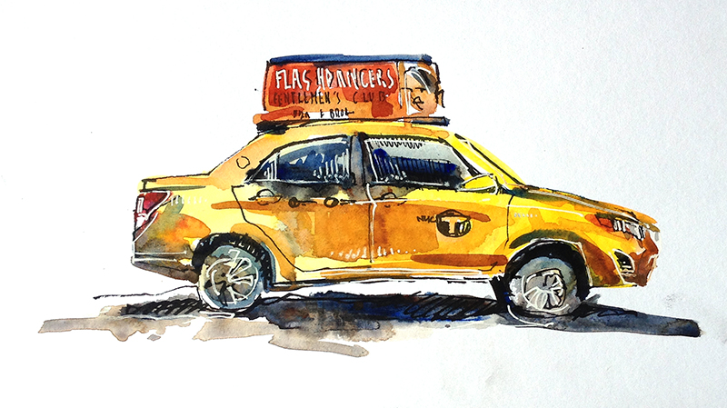 The best free Taxi drawing images. Download from 140 free ... |Yellow Taxi Cab Drawing