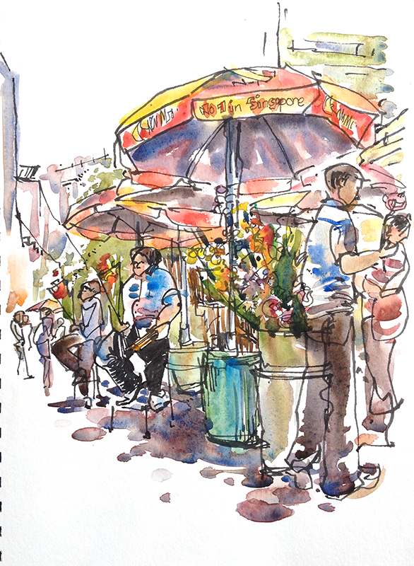 Indian Marketplace Drawing All my Waterloo Street...