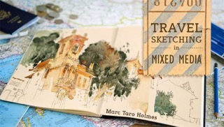 MHolmes_Travel Sketching in Mixed Media