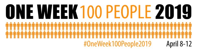 #OneWeek100People